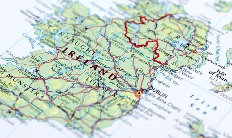 Irish Division represented as Map of Ireland